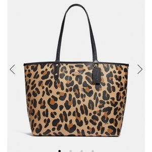 COACH Reversible City Tote bag - Leopard NWT